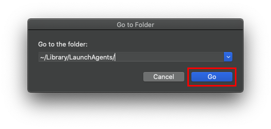 Go to the Library/LaunchAgents